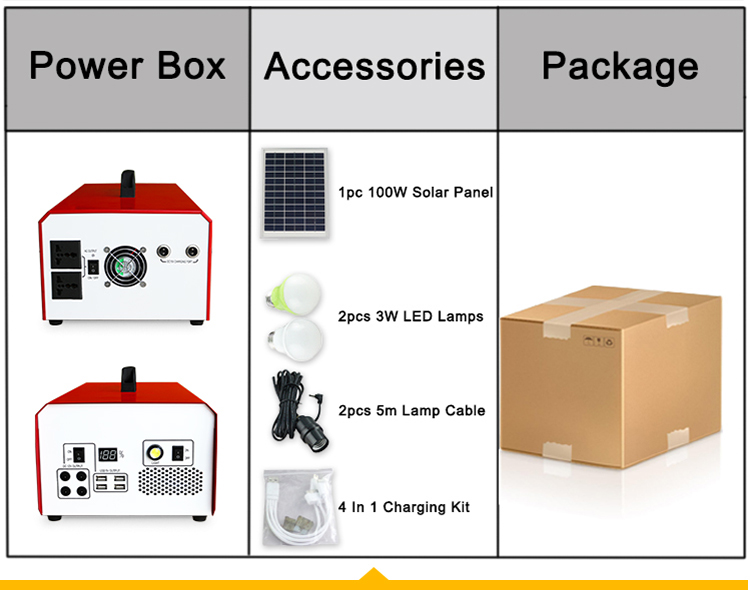 1000W portable solar power system all in one solar generator solar kits solar energy systems 1kw solar system for home
