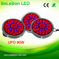 China supplier ufo 48*3w 90w grow led light full spectrum for vegetables /tomatoes grow