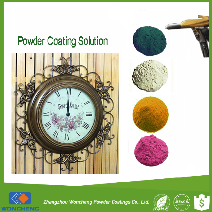 Gold / Copper Color Powder Coating For Painting Metal Frame Clock