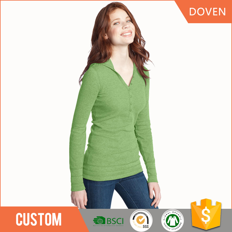 wholesale long sleeve t-shirt V-neck/O-neck oem