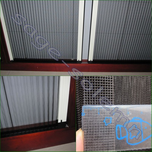 Polyester Plisse Fly Screen,Pleated Fly Screen Mesh for Doors and Windows