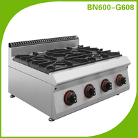 stainless steel counter top viking wholesale 4 burners gas cooking range BN600-G608