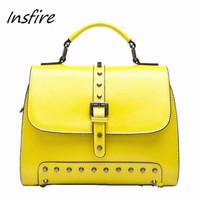 2016 rivet Wax Oiled leather handbag and purse wholesale Online shopping