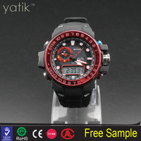 wholesale abibaba cheap silicone rubber strap watch g-shors watch sport led watch