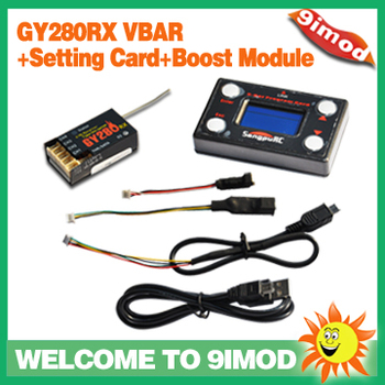 Flybarless System 3-Axis GY280RX VBAR RX+Card+Boost Module