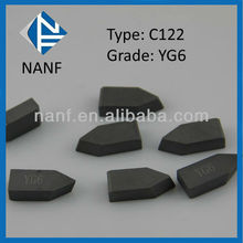 C122 YG6 Carbide Brazed Tips