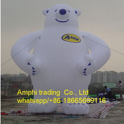 Good quality inflatable polar bear cartoon model,giant inflatable bear,giant inflatable white bear for advertising