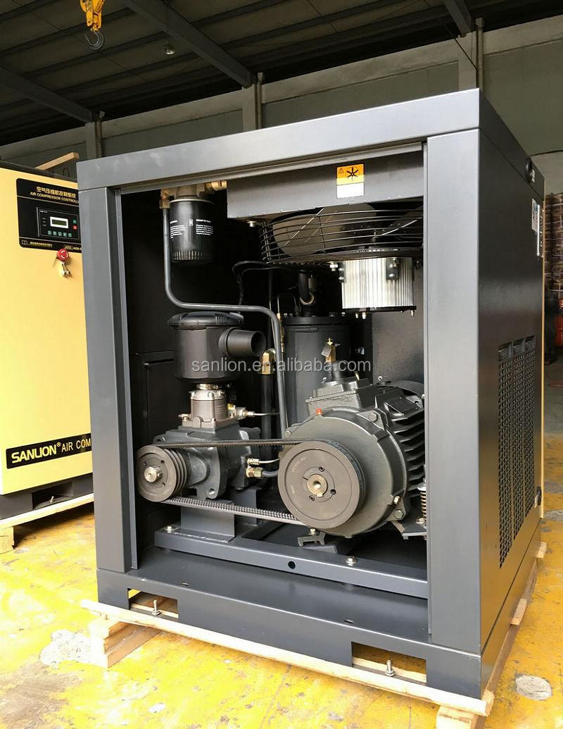 7.5KW mini quincy screw air compressor with CE cost price