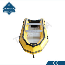 CE certificate1.2mm hypalon inflatable boat with aluminum floor for wholesale