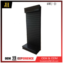 High quality metal slat wall mounting shelves for shoes and clothes store