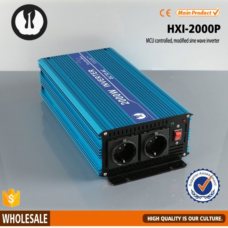 energy-saving automobile power efficiency pure sine wave solar inverter 2000w with 6 years production experience