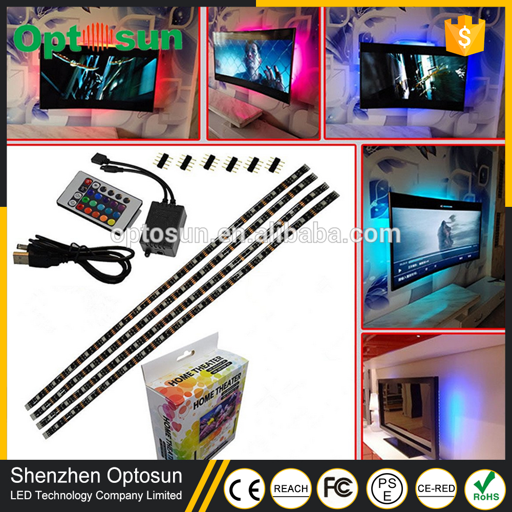 Amazon Hot Sales LED Backlight TV 5V Strip Light Bias Lighting for HDTV Flat Screen TV LCD with Turn On/Off Button