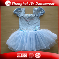 Whole lyrical short sleeve dancewear, leotards gymnastics with tutu