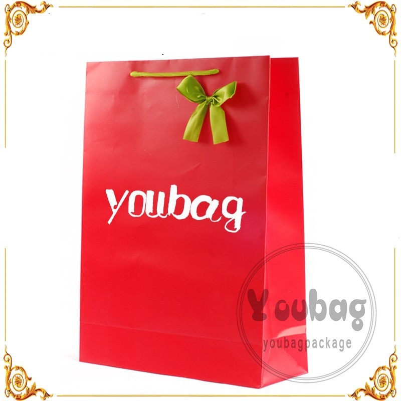Candy Paper Bag With Ribbon Bow for wedding
