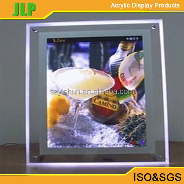 LED acrylic photo frame led picture frame