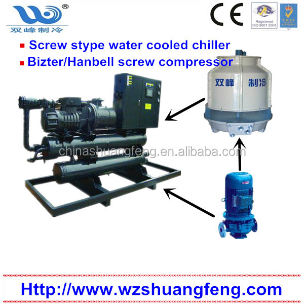 CE Approved Industrial Water Cooled Screw Type Chiller