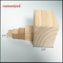 customized and wholesale unfinished wooden block cube