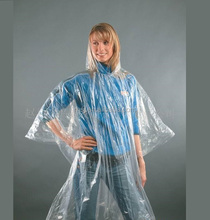 Promotional portable foldable disposable adult raincoat poncho PE