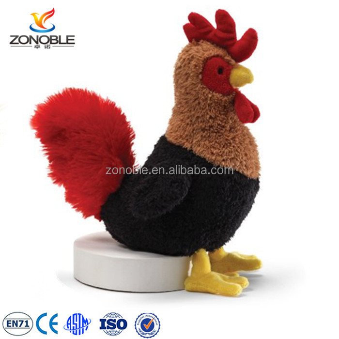 Funny baby plush animal rooster cute cuddly animal plush toy stuffed chicken
