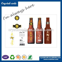 Customized plastic water bottle label, energy drink private label, beverage adhesive labels