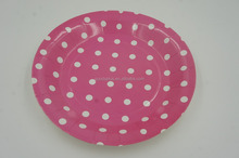 Custom design raw material paper plate for party