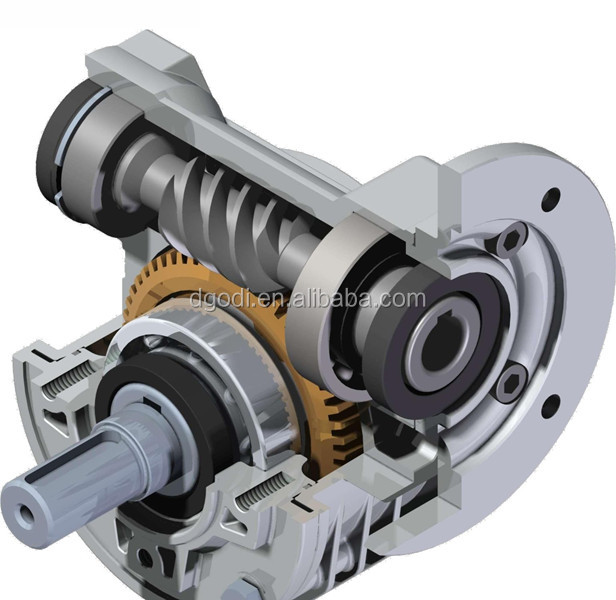 Custom precision casting metal shell speed worm gear reducer