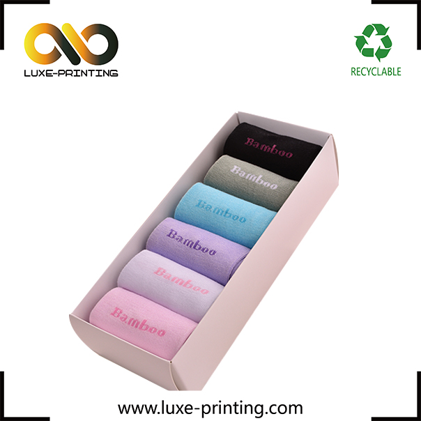 Wholesale custom spot uv 300 gsm retail socks paper box packaging