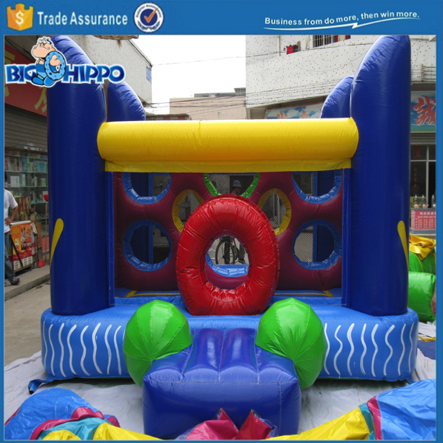 Game of portals bouncy castle house jumper moon bounce Colorful Inflatable Amusement Fun Park