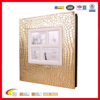 hot sale retro gold photo album cover,leather baby photo album,custom plastic sheets photo album