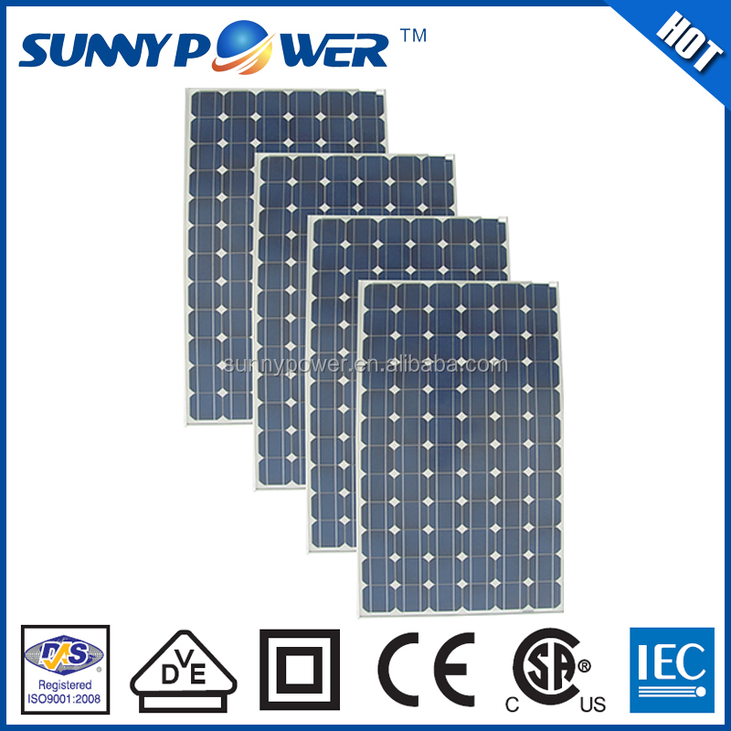 Monocrystalline silicon CE approved mono sloar pannel
