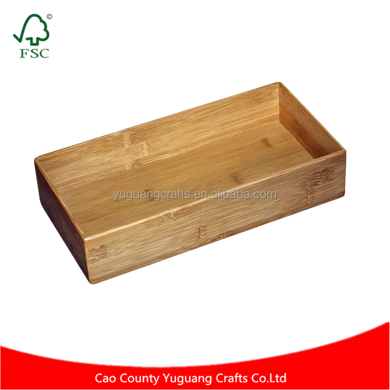Constructed of High Quality Bamboo Kitchen Drawer Organizer Storage Boxes & Bins