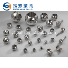 Accept custom 3mm stainless steel ball with 2mm hole, 4-way ball valve valve