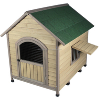 ZPDK1001M Thinking outside wooden dog kennel house with veranda
