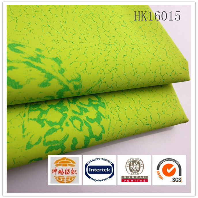 woven plain printed 100%polyester waterproof milky coating pongee fabric for garment