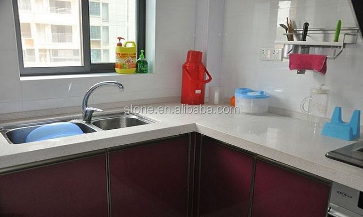 Artificial quartz stone slabs solid surface pure white and other CLEAN PURE SERIES