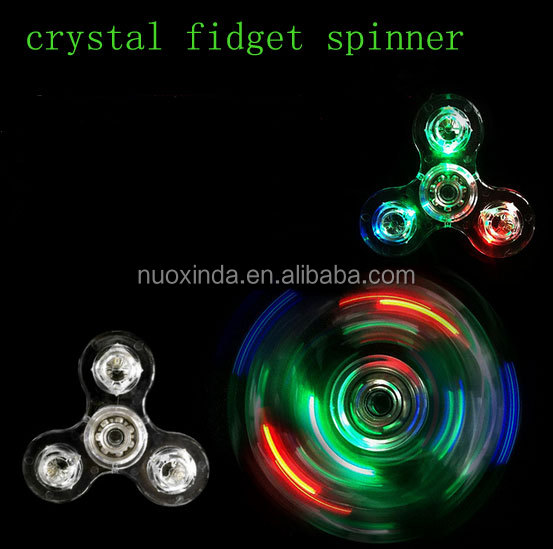 2017 factory price the latest light spinner crystal led spinner fidget toy