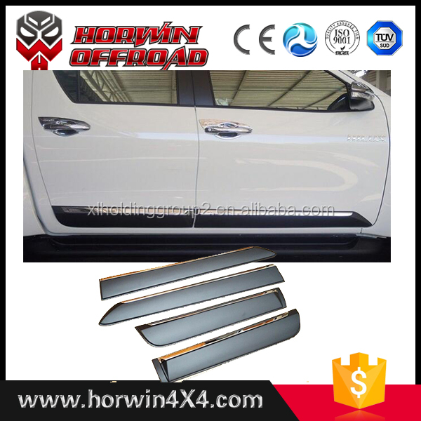 Car Side Door Moulding Trim auto parts Side Body Trim for hilux revo 2016