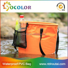 Flexible and foldable pvc tarpaulin Beach Buckets And Pails