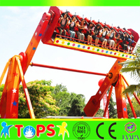Thrilling TOP SPIN games ! big amusement park rides