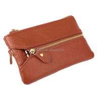 Simple style Genuine leather wallets for girls with many colors for choosing