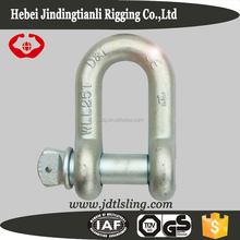 High tensile forged screw pin d type shackles
