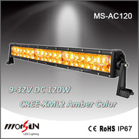 Atv 4x4 off road led amber double light bar 120w 21.5 inch