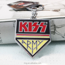 Music Band KISS Keychain Letters Metal Key ring Keychain