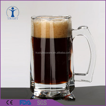 China Factory Drinking Mug Cup Cheap Clear 12oz Glass Beer Stein Wholesale