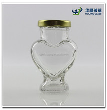100ml heart shape glass candy jar sweets glass jar with screw cap