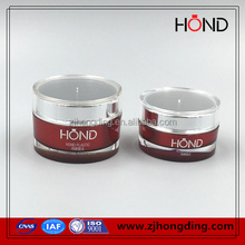 manufacture round acrylic jar/50ml 100ml 200ml cosmetic container/small plastic jar matte silver plastic jar