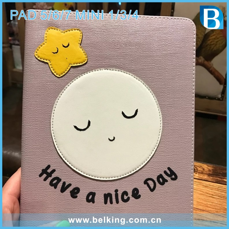 For iPad case Lovely Star Book Flip Leather Cover for iPad 5 Air 2