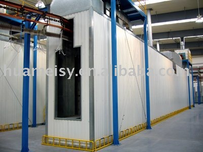 strainght tunnel curing oven for powder coating line