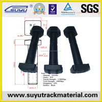 Railway cap square head bolts and nuts concrete railway sleepers