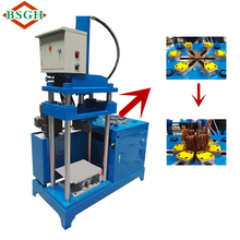 motor copper recycling Machine scrap motor stator cracker cutting machine export to India market